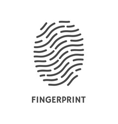fingerprint verification poster with text vector image