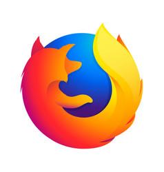 firefox edge emblem vector image