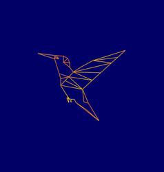 Geomatric bird line art logo vector