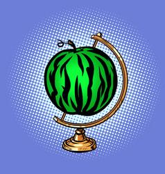 globe international watermelon summer food ripe vector image