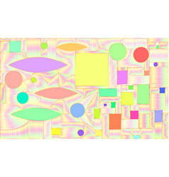 Graphic bright saturated abstract colorful vector