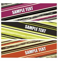 grunge stripes banners vector image