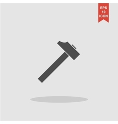 hammer icon Flat design style vector image