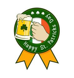 happy saint patricks day icon label vector image