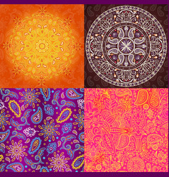 indian seamless pattern oriental textured vector image