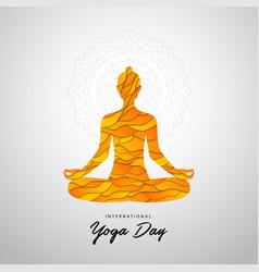 international yoga day day yoga vector image