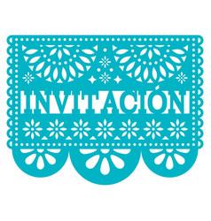 Invitation papel picado design -invitation vector