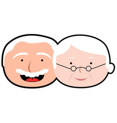 isolated grandparents avatar vector image