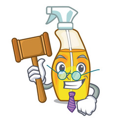Judge spray bottles are isolated from cartoons vector