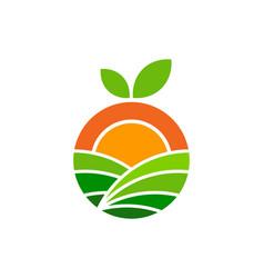 Juicy farm logo icon design vector