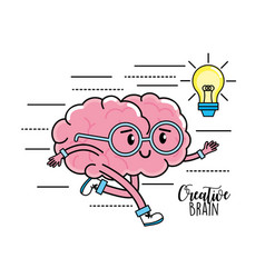 Kawaii mental health to creative process design vector