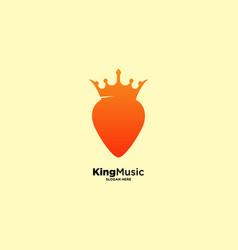 King music logo design template vector