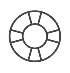 Lifebuoy thin line icon vector