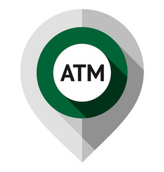 Map pin symbol atm gps pointer folded from vector