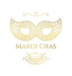 Mardi gras greeting card vector