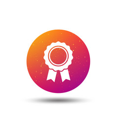 medal icon winner award emblem sign vector image