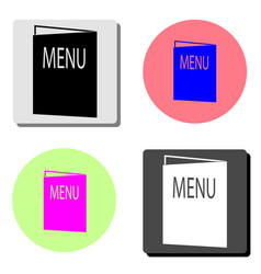 menu flat icon vector image