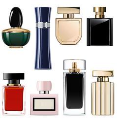 Modern perfume icons vector