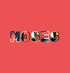 Moses concept word art vector
