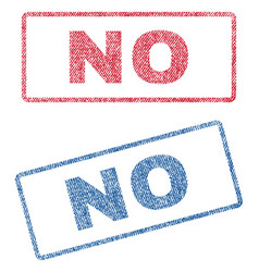 No textile stamps vector