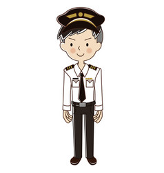 Occupations man pilot vector