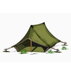 painted tent vector image
