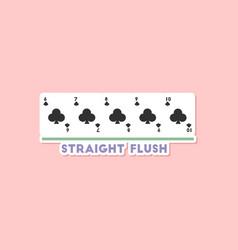 Paper sticker on stylish background poker vector