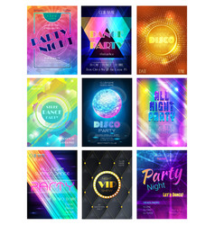 Party pattern disco club or nightclub vector