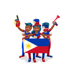 Philippines with philippines flag symbol vector