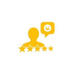 Positive good feedback icon vector