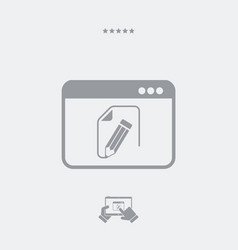 Project document flat icon vector