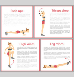 push ups and triceps chop vector image