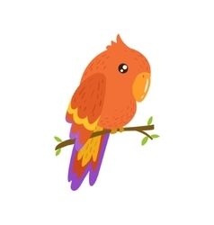 Red Macaw Realistic Childish vector image