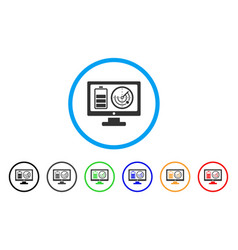 remote battery monitoring rounded icon vector image