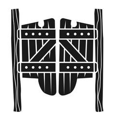saloon wood doors icon simple style vector image