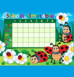 School timetable topic image 5 vector