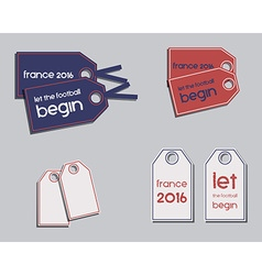 Set of France 2016 Football brand identity labels vector image