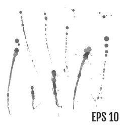 set of ink blots for design use vector image