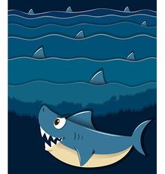 Shark swimming under the sea vector