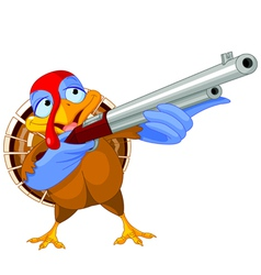 Shooting turkey vector image