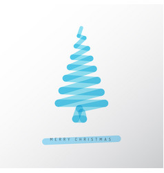 Simple minimalistic christmas tree vector