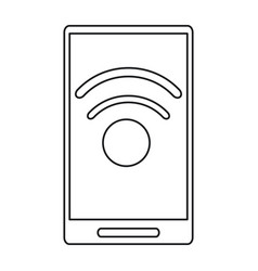 smartphone technology connected wifi internet line vector image