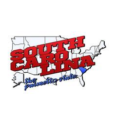 south carolina state with us south carolina state vector image