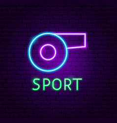sport neon label vector image