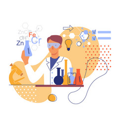stylized image a chemist in laboratory vector image