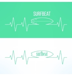 surf surfbeat creative background and logo vector image