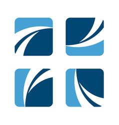 swoosh in square logo template design eps vector image