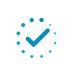 task progress tick loader vector image