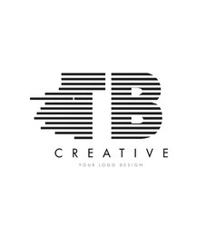 Tb t b zebra letter logo design with black and vector