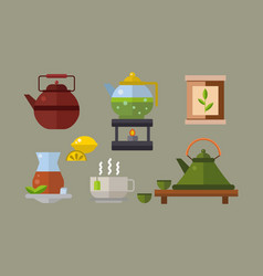 tea ceremony traditional asian drink vector image